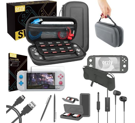 Kit Estuche Mica Funda Nintendo Switch Lite Accesorios