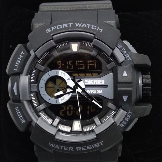 Relógio Skmei 1117 Resistente A Água 50m Preto Original