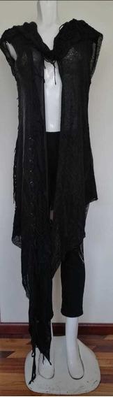 Cardigan - Blusón De Mujer - Capucha Rocker - Gótico