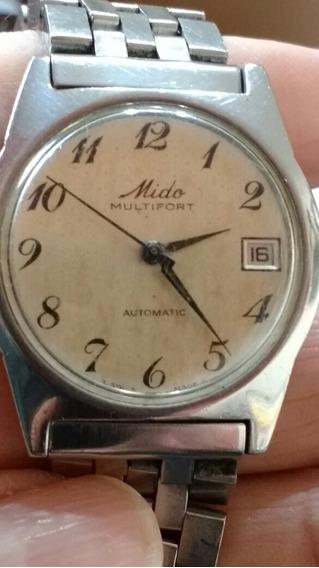 Relógio De Pulso Mido Multifort Antigo