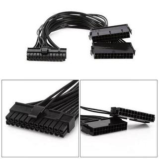 Cable Atx 24pin A 2x 24 Pin Doble Fuente De Poder