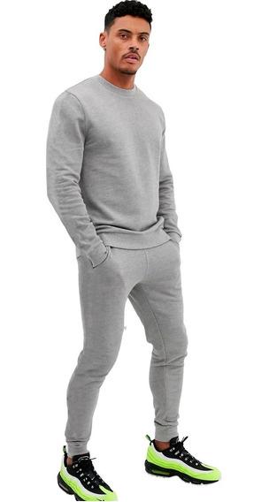Conjunto Básico Moletom Peluciado Kit Blusa De Frio + Calça