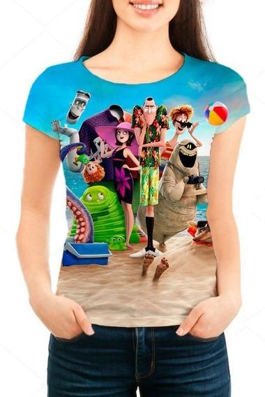 Camiseta Feminina Hotel Transilvânia 3 Férias Monstruosas