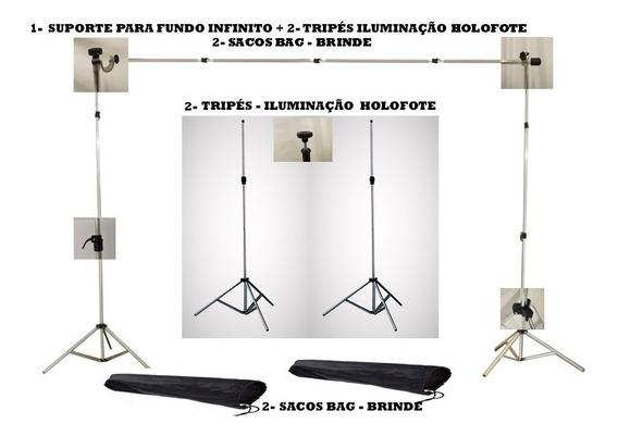 Suporte Tripe Holofote Fundo Infinito Estúdio Fotografico X