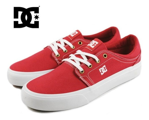 Tenis Dc Shoes Trase Red Textil Talla 26.5cm