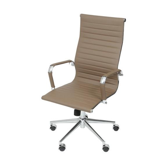 Cadeira Escritorio Eames Esteirinha Giratória Alta Marrom