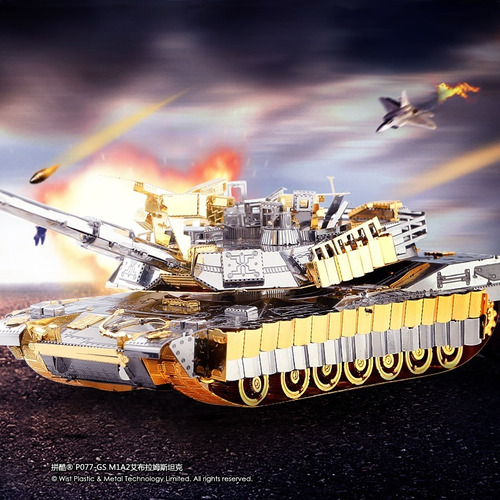 M1a2 Sep Tusk Ii Maqueta Metalicas P/armar Piececool