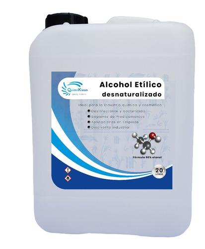 Imagen 1 de 3 de Alcohol Etílico 20 Litros 96% Puro Quimiklean