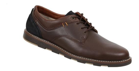 Zapato Triples De Piel Color Negro Mod. Mael