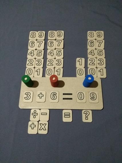 Jogo Primeiras Contas Matemática 72 Peças Pedagogico Autismo