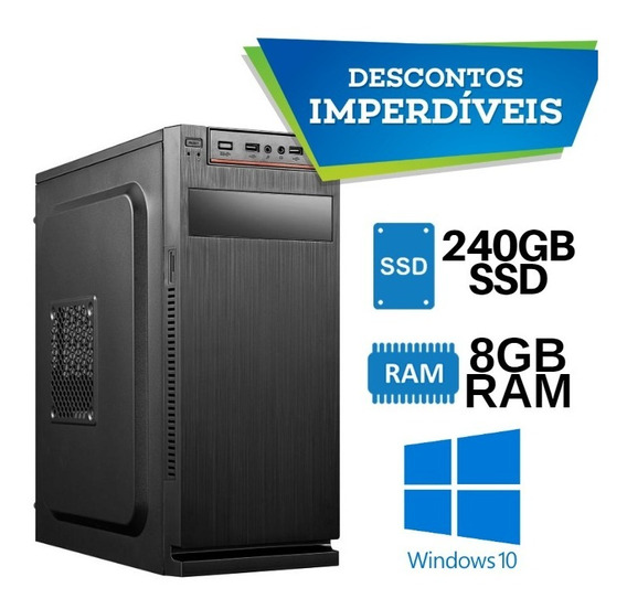 Computador Core I7 Ssd240 8gb Novo Windows 10