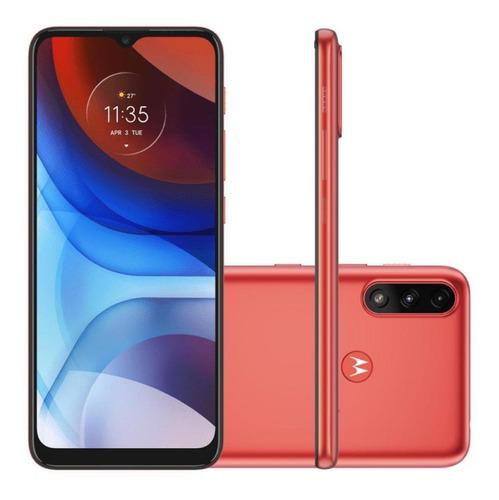 Celular Smartphone Motorola Moto E7 Power Xt2097 32gb Vermelho - Dual Chip