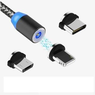 Cable Usb Magnetico 3 En 1 Tipo C, iPhone Y V8 Carga Celular