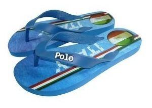 Polo Shoes Chinelo Azul & Verde 41-42 Temos Outras Marcas