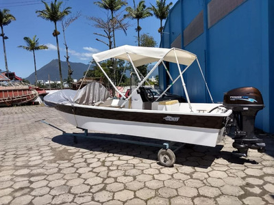 Barco Fibra De Vidro 16 Pés Novo 6 Pessoas