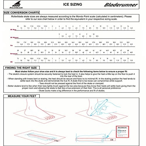 Imagen 1 de 6 de Bladerunner Ice De Rollerblade Zephyr, Patines De Hielo Para