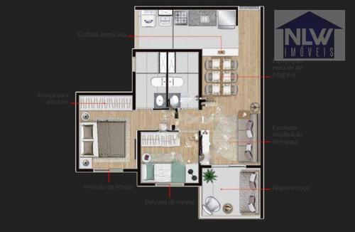 Apartamento Com 2 Dormitórios À Venda, 50 M² Por R$ 673.100,00 - Vila Romana - São Paulo/sp - Ap0269