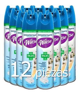 12 Desinfectante Aerosol Spray Antibacterial Wiese Virus /i