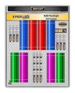 8 Linternas Led De Aluminio Con 24 Pilas Defiant 30 Lumenes