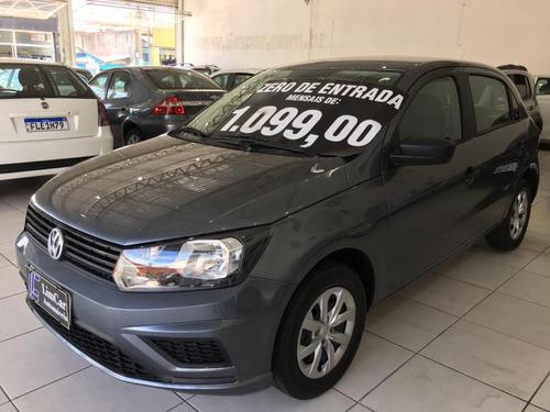 Volkswagen Gol Ano 2020 Completo Unico Dono Zero De Entrada