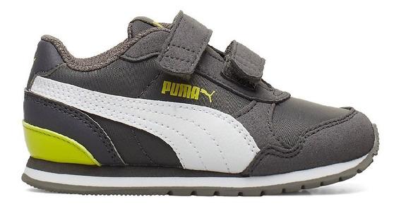 Zapatillas Puma St Runner V2 Nl Velcro Gris Niños/bebes