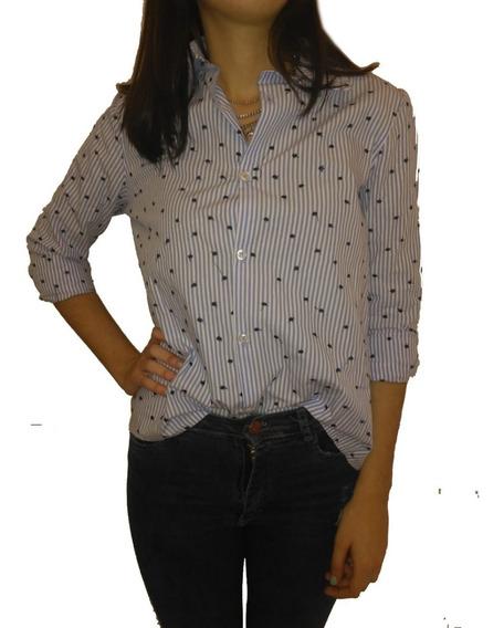 Camisa Mujer Rayada Excelente Calidad