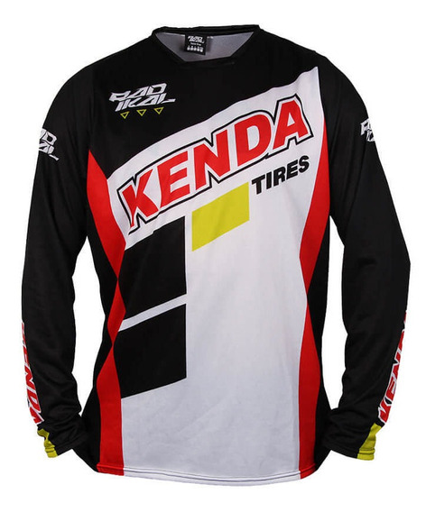 Jersey Remera Kenda Oficial Negra Motocross Enduro