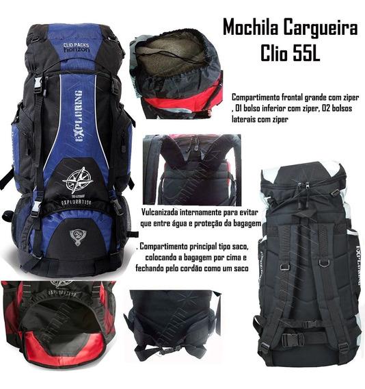 Mochila Para Escoteiros 55l Clio Varias Cores Trilhas Mc3102