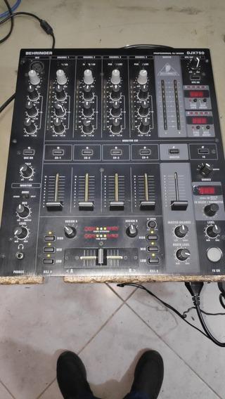 Mixer Behringer Pró Mixer Djx750 Semi Novo