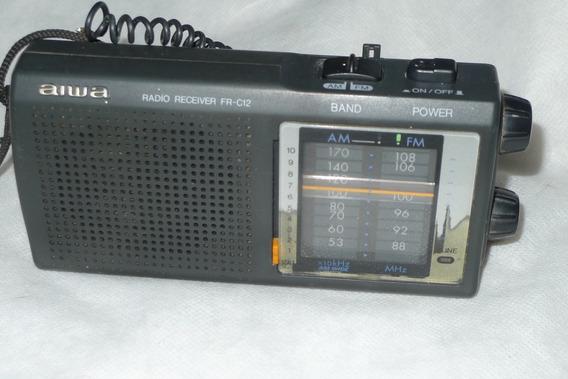 Rádio Aiwa Fr-c12w Am Fm Anos 80 Leia Tudo-unissef-sony-cce-