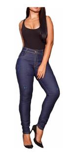 Kit 3 Calças Jeans Feminina Cintura Alta Lycra Premium