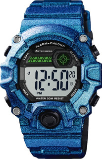 Reloj Stromberg Snap Sumergible Digital Azul Metalizdo