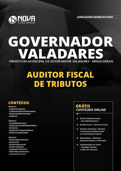 Apostila Governador Valadares 2020 Auditor Fiscal
