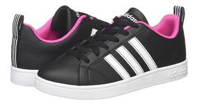 Tenis adidas Advantage Ngo/bco/rosa Mujer Original B9623
