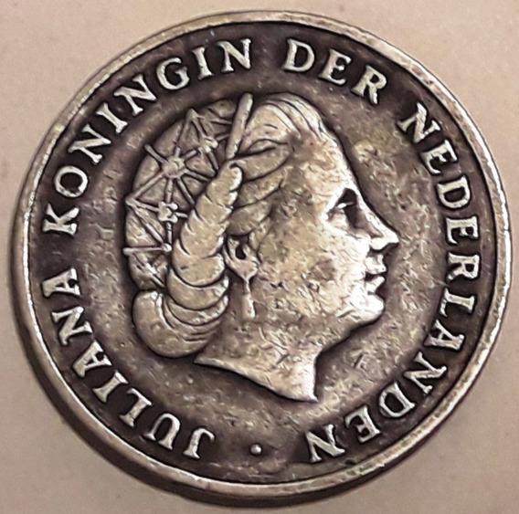 Antillas Holandesas Moneda De Plata Del Año 1952 -excelente