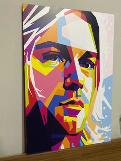 Cuadro Decorativo Moderno Kurt Cobain Pop Art Nirvana