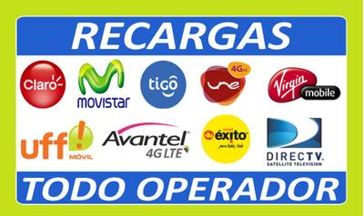 Recargas Todo Operador Vendedor Y Distribuidor 7 , 7.5 Y 8%