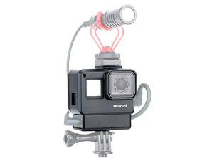 Gopro Caixa Case Estanque Vlog Microfone Gopro 5 A 7 Black