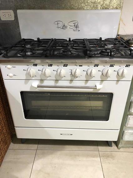 Cocina Luxor Gas 90 Cm. Con Horno Pizzero Modelo Retrostyle