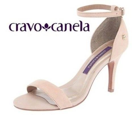 Sandália Feminina Social Cravo & Canela 143702-1 Salto Fino