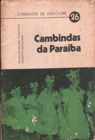 Cambindas Da Paraíba - Cadernos De Folclore 26