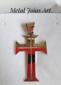 Pingente Cruz Templaria 7gr 4,1x2,9cm Ouro 18k Nota Fiscal