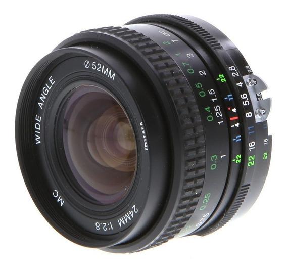 Lente Objetiva Sony Minolta Md Vivitar 24mm F/2.8 Mf