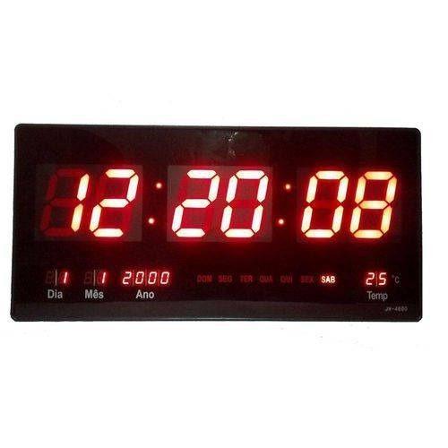 Relógio Parede Led Digital Grande 46cm Termômetro Original