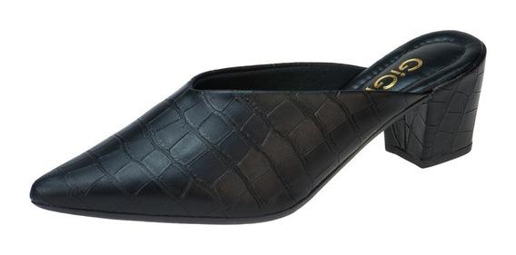 Sapato Mule Salto Alto Grosso Scarpin Sapatilha Feminina G3