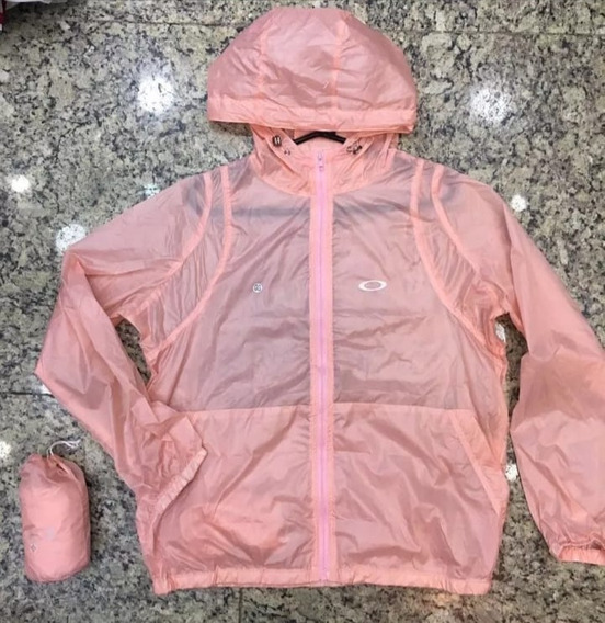 Blusa Jaqueta Feminina Corta Vento - Sacolinha Rosa Pink