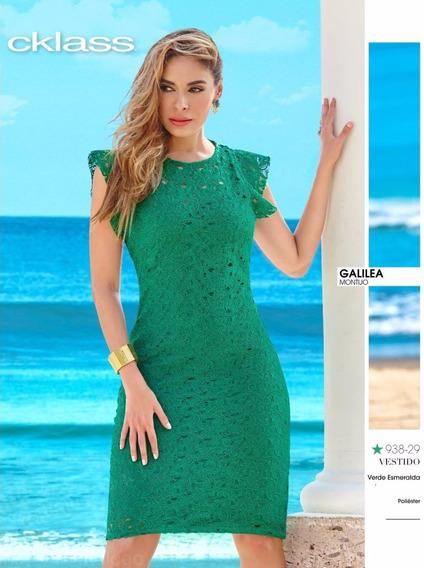 Vestido Cklass Verde 938-29 Primavera Verano 2017 Nuevo