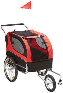Mdog2 Mk0291 Comfy Pet Bike Trailer/jogging Stroller, Red/bl
