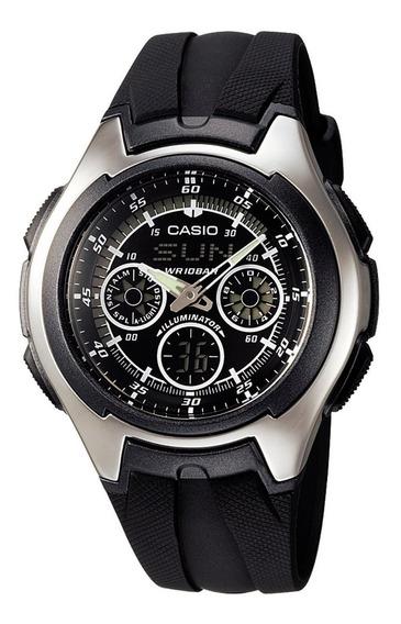 Relógio De Pulso Anadigi Casio Active Dial Aq - 163w Japão