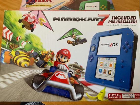 Nintendo 2ds Com Jogo Mario Kart 7. Novo!